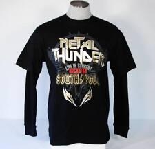 Southpole Black Metal Thunder Layered Thermal Tee Shirt Mens Medium M NWT