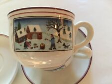 "Set of Two (2) Villeroy & Boch ""Naif Christmas"" Cups and Saucers-- MINT & Unused"