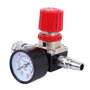 "1/4"" Pressure Regulator Air Compressor Adjustable Gauge 175PSI Valve Control"