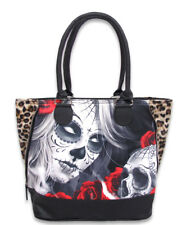 Liquor Brand Eternal Bliss Sugar Skull Shoulder Handbag Purse Bag LB-BSH-00039