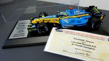 FERNANDO ALONSO GENUINE HAND SIGNED 2006 RENAULT R26 1/18 DISPLAY GPL COA NEW