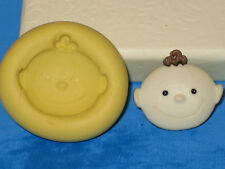 Baby Boy Push Mold Mould Silicone Topper Chocolate Resin Clay A296 Sugarcraft