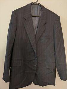 Gianni Mazzone Men's Black Pinstripe Blazer Jacket