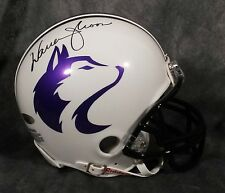 WARREN MOON signed WASHINGTON HUSKIES custom mini helmet tristar coa oilers auto