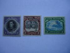 Cook Islands KGVI 1938 SG127-9 1/--3/- MNH