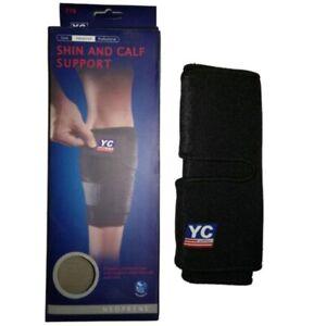 Adjustable compression neoprene calf support sleeve SHIN splints muscle injury