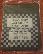 (40) 1/4 SHEETS SANDPAPER FINE 240 GRIT WET DRY SAND PAPER