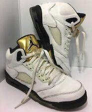 ea23403a72c4 Air Jordan 5 Retro GS Big Kids Shoes Olympic Gold Coin 440888-133 Size 7