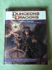 Arcane Power book supplement D&D Dungeons & Dragons 4th hard back