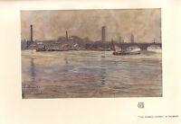 1904 Viktorianisch Studio Aufdruck ~ The Thames London Von Houbron