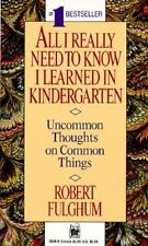 ⭐NEW⭐All I Really Need To Know I Learned In Kindergarten by Robert Fulghum, 1989