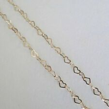 14 Inch 10k Gold Filled Heart Chain Necklace