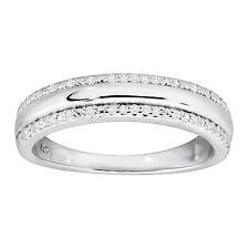 1/10 CT Diamante Anillo De Bodas Anillo en Plata Esterlina Rodio
