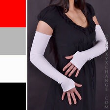 Arm Warmers Women White Long Sleeves Covers Driving Cycling Running Cotton 1078