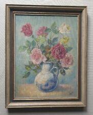 Karl Petau 1890-1974 signed original oil painting flowers master graphic artist