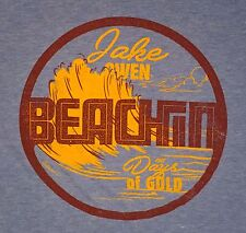 Jake Owen Beachin' Tshirt Light Blue Large Days of Gold Super Soft Country