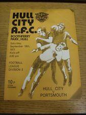 18/09/1971 Hull City v Portsmouth  (marked on front). Bobfrankandelvis the selle