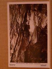 Unposted Postcard Derbyshire The stalactite, Peak Cavern, Castleton Real Photo