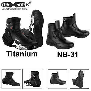 Profirst Men Motorcycle Racing Boots Waterproof Leather Touring Shoes Size Armor