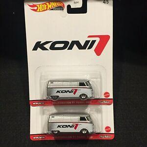 Hot Wheels Premium Volkswagen T1 Panel Bus Koni Real Riders Lot of 2