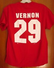 DETROIT RED WINGS Mike Vernon youth lrg T shirt hockey goalie NHL logo tee #29