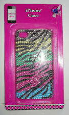 w.o.. I Phone Case for IPhone 4/4s NoC Diamond Black, Silver, Turquoise & Pink