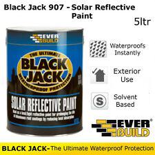 907 Solar Reflective Paint   Everbuild Black Jack   Weatherproof Protection