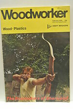 Woodworker Magazine. February, 1974. Volume 78, number 963. Bowmakers Sherwood.