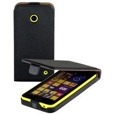 Eco Flip-Style Case Tasche für Nokia Lumia 630 / 635 Hülle Etui schwarz black