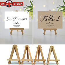 10x DISPLAY EASEL ARTIST STAND WOODEN WEDDING PLACE NAME HOLDER TABLE NUMBER