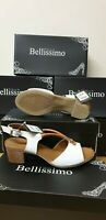 bellissimo womens white/tan shoes size uk 5 / eu 38 rrp £64.99