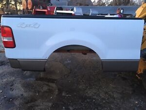Ford F150 6.5' Pickup Box F-150 Short Bed White And Tan 04-08 Rust Free