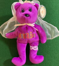 "CELEBRITY BEARS 2000 Star #67 Madonna ""Material Bear"" BEAN BAG Toy 9"" Plush MWMT"