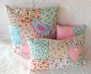 Patchwork Kit - Make Your own Patchwork Cushion - Easy Fabric & Template VINTAGE