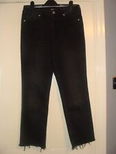 "BDG Black Frayed Jeans Size 25 Short Leg 27"" Urban Outfitters"