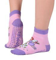 "Footsis Non Slip Grip Socks for Yoga, Pilates, Barre, Home - Style ""Fairy""."
