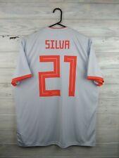 Silva Spain soccer jersey large 2019 away shirt BR2697 football Adidas
