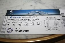 TICKET )) KAA GENT V LYON OL )) Champions League 2014/2015