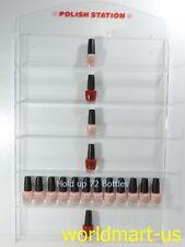 Nail Polish Wall Rack Acrylic Hold up 72 bottles ( With header design )
