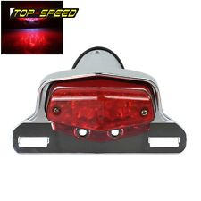 Chrome 12V Motorcycle Lucas Style LED Tail Light For Triumph British Cafe Racer