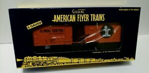 American Flyer S Gauge (6-48378) ILLINOIS CENTER BOXCAR 400664 , new factory box