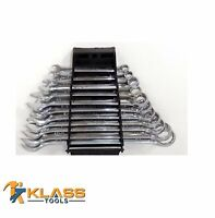 11 Piece SAE Combination Wrench Set with Rack Holder by KlassTools