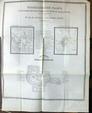 Jerusalem nebst Grundrisse der Kirche des heiligen Grabes Topogr. Plan 1843
