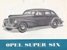 ✇ ORIGINALE PROSPEKT BROCHURE OPEL Super Six 6 da GM da 1937
