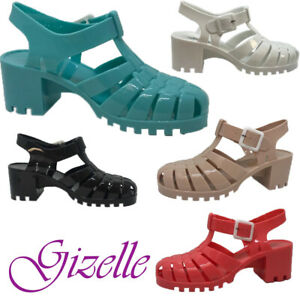 LADIES JELLY GLADIATOR RETRO SANDALS FESTIVAL BEACH HOLIDAY SHOES UK SIZE 3-8