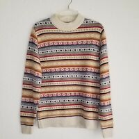 Lord Jeff Large Vintage Mens Sweater Crewneck Pullover Fair Isle