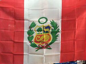 BANDERA NACIONAL DE PERU 150x90cm - BANDERA NACIONAL DE PERU  90 x 150 cm