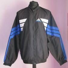 VTG Mens ADIDAS Black/Blue/White Multi Track Suit Sport Top Size Medium (y50)