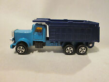1980 Speed Wheels 1:64 Blue Tipper Dump Container Tractor Trailer Truck (Mint)