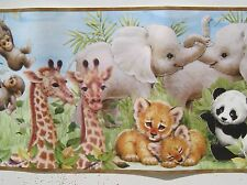 "CUTE BABY AFRICAN ANIMALS  Wallpaper Border 8 1/4 """